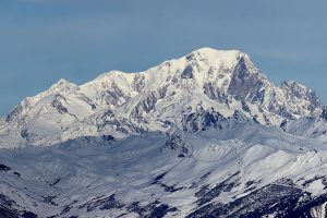 The famous Mont Blanc which you can see in Chamonix